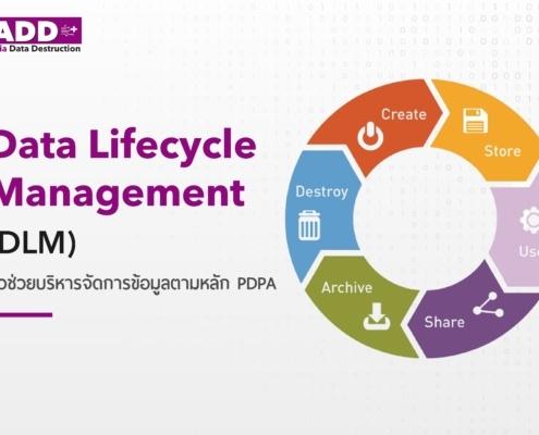 Data lifecycle management (DLM) เพิ่มประสิทธิภาพในการจัดการข้อมูล การบริหารจัดการข้อมูลตามหลัก PDPA (Person Data Protection) (พรบ. คุ้มครองข้อมูลส่วนบุคคล) 2